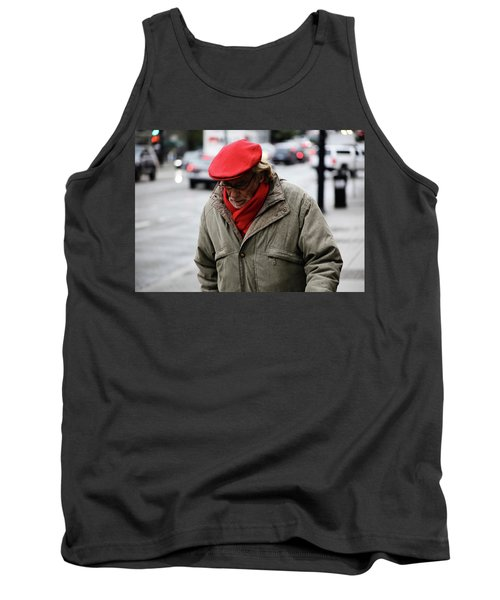 Tank Top featuring the photograph Hello Bonjour  by Empty Wall