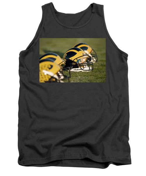 Helmets On The Field Tank Top