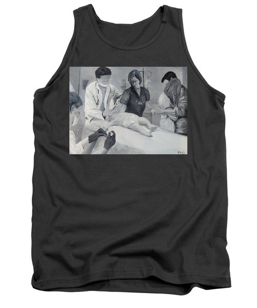 Tank Top featuring the painting Help by Kevin Daly
