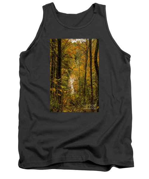 Tank Top featuring the photograph Helton Falls Through The Leaves by Barbara Bowen