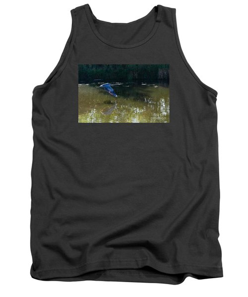 Tank Top featuring the photograph Heron Flight by Laurel Best
