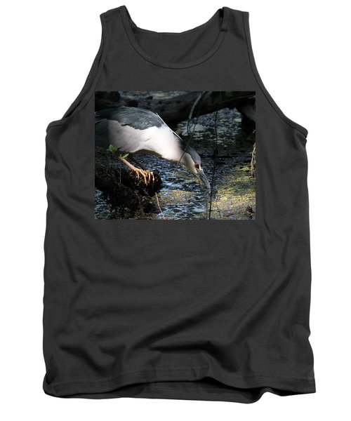 Tank Top featuring the photograph Heron In A Sun Beam by Doris Potter