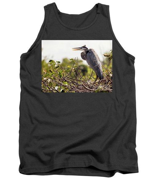 Heron In Nest Tank Top