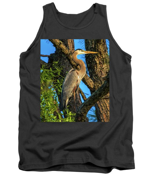 Heron In The Pine Tree Tank Top