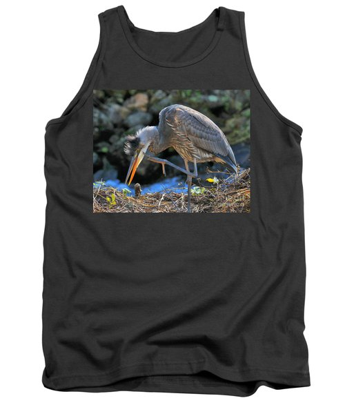 Tank Top featuring the photograph Heron Scratch by Debbie Stahre