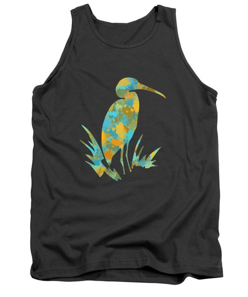 Heron Watercolor Art Tank Top