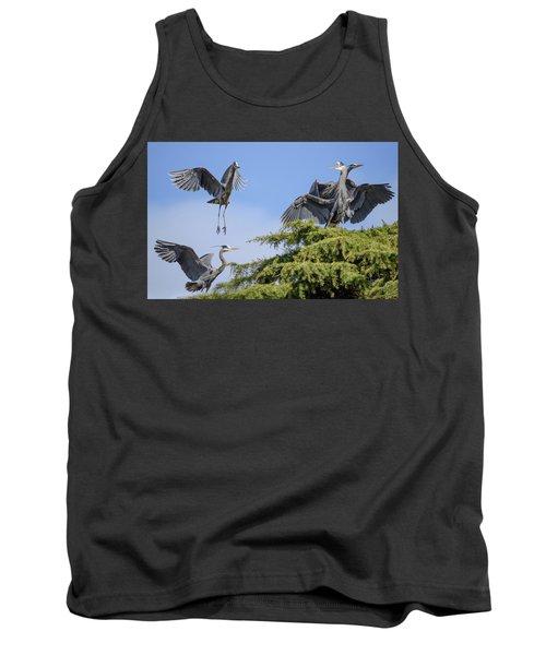 Herons Mating Dance Tank Top
