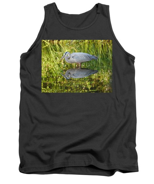 Heron's Reflection Tank Top by Jane Ford