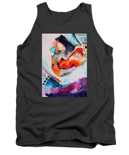 Hey Mr. Spaceman Tank Top by Stephen Anderson