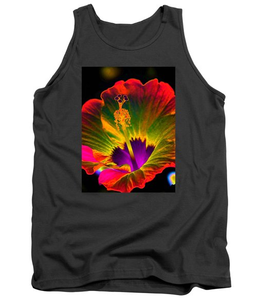 Hibiscus 01 - Summer's End - Photopower 3189 Tank Top by Pamela Critchlow