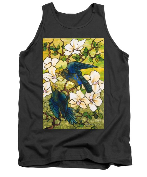 Hibiscus And Parrots Tank Top