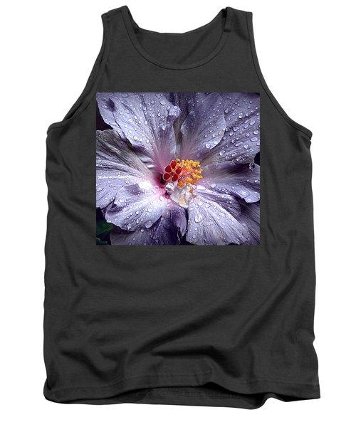 Hibiscus In The Rain Tank Top