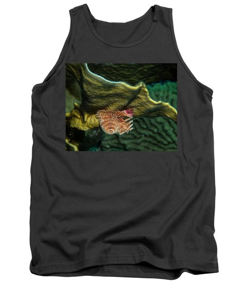Tank Top featuring the photograph Hidden Christmastree Worm by Jean Noren
