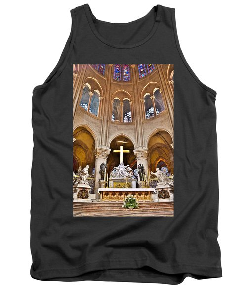 High Alter Notre Dame Cathedral Paris France Tank Top