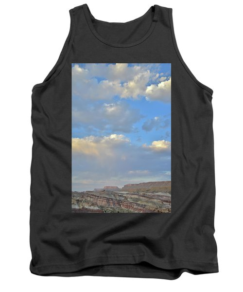 High Clouds Over Caineville Wash Tank Top