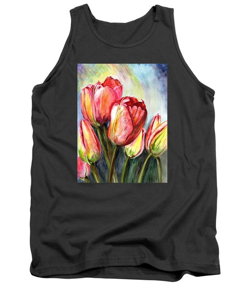Tank Top featuring the painting High In The Sky by Harsh Malik