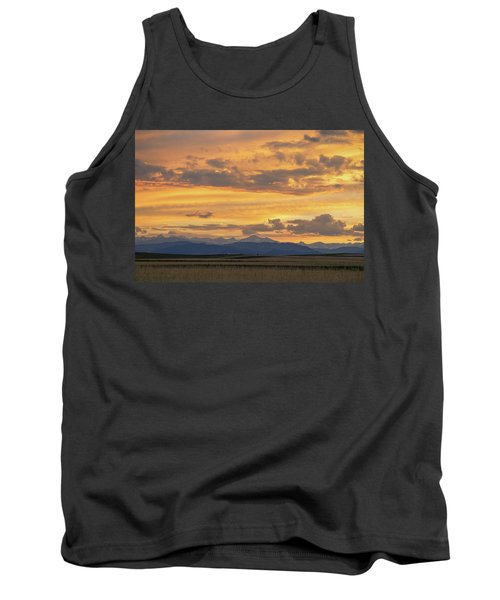 Tank Top featuring the photograph High Plains Meet The Rocky Mountains At Sunset by James BO Insogna