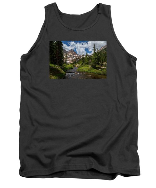 Hiking Into A High Alpine Lake Tank Top by Michael J Bauer