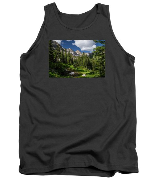 Hiking Into The Gore Range Mountains Tank Top by Michael J Bauer