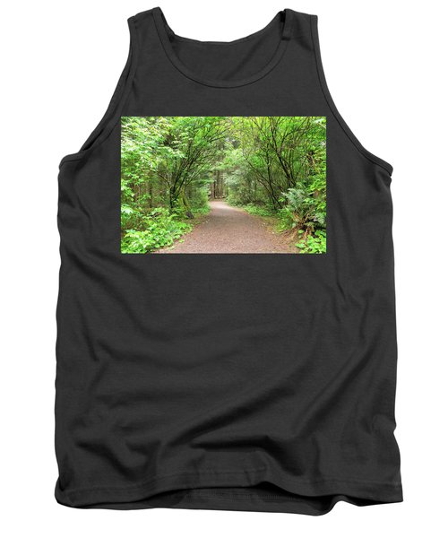 Hiking Trail Along Lewis And Clark River Tank Top