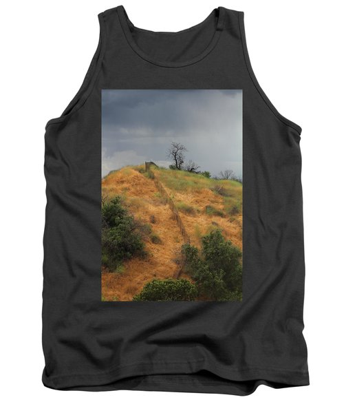 Hill Divided By Fence Tank Top