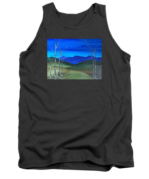 Tank Top featuring the painting Hill View by Pat Purdy