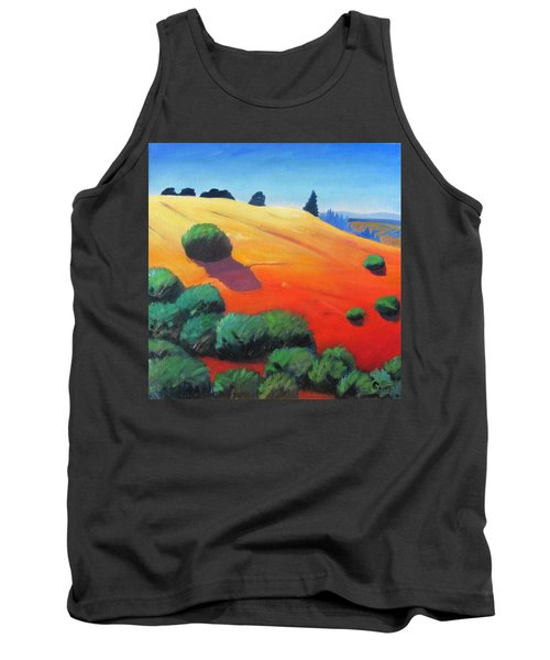 Tank Top featuring the painting Hills And Beyond by Gary Coleman