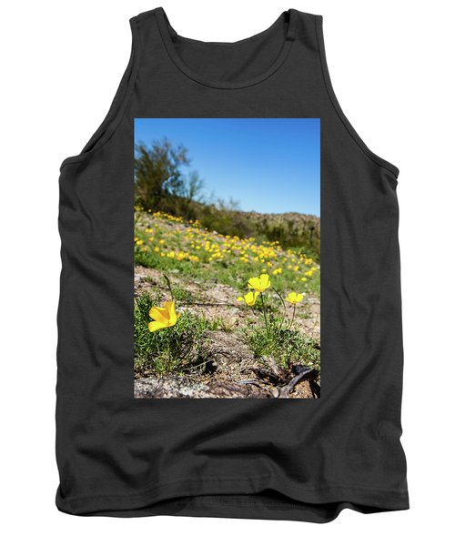 Tank Top featuring the photograph Hillside Flowers by Ed Cilley
