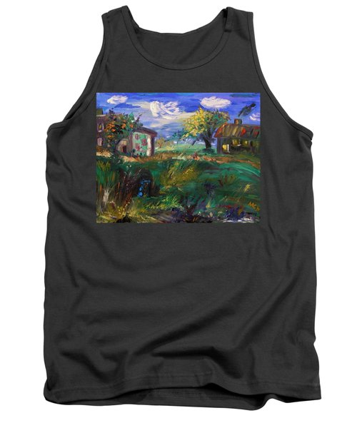 Tank Top featuring the painting Hillside Tranquility by Mary Carol Williams