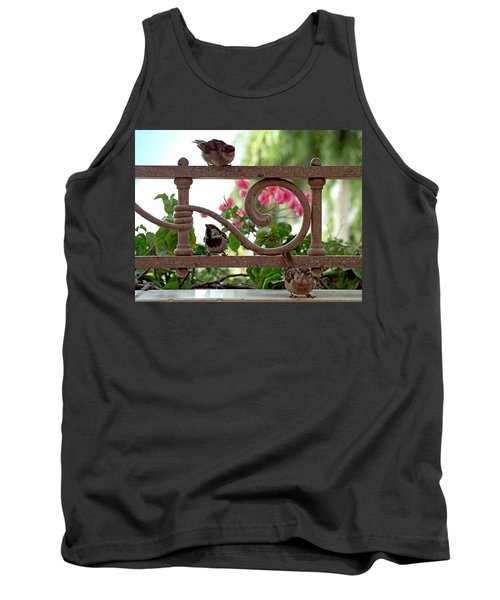 His Eye Is On The Sparrow Tank Top