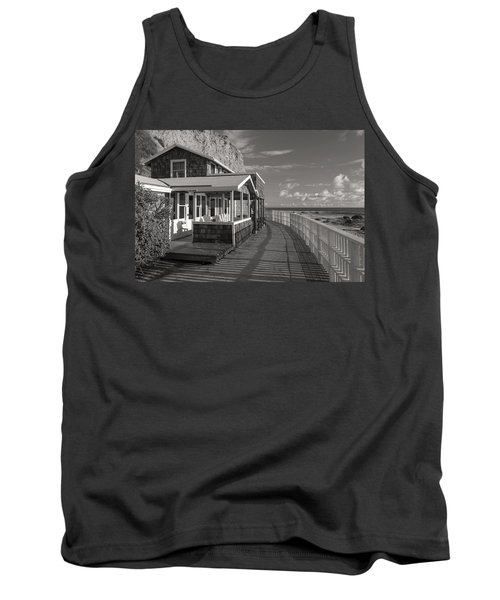 Historic Cottage  Crystal Cove Black And White Tank Top