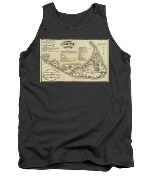 Historical Map Of Nantucket From 1602-1886 Tank Top