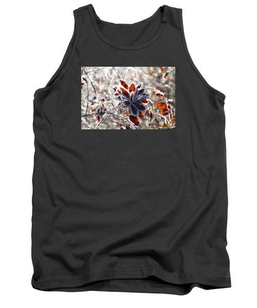 Tank Top featuring the photograph Hoar Frost - Nature's Christmas Lights  by Peggy Collins