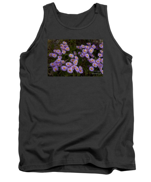 Tank Top featuring the photograph Hoary Tansyaster-signed-#9698 by J L Woody Wooden