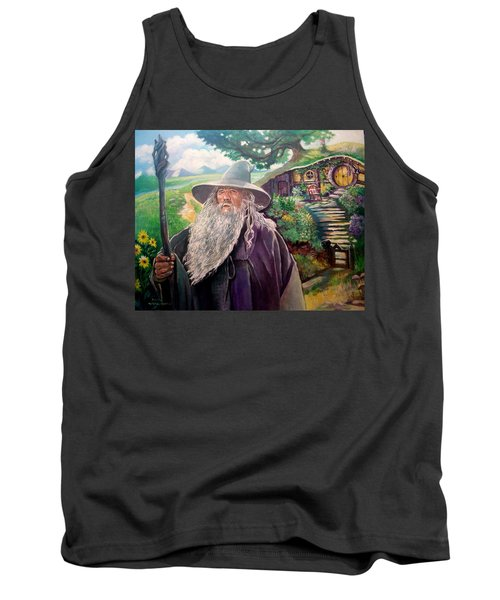 Tank Top featuring the painting Hobbit by Paul Weerasekera