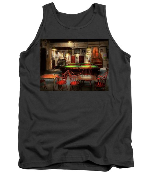 Tank Top featuring the photograph Hobby - Pool - The Billiards Club 1915 by Mike Savad