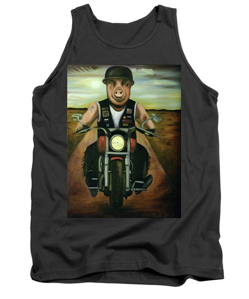 Tank Top featuring the painting Hog Wild by Leah Saulnier The Painting Maniac