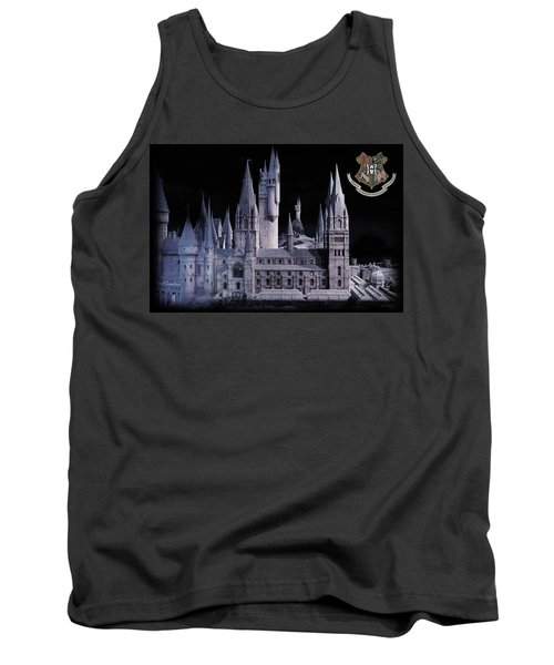 Tank Top featuring the mixed media Hogwards School  by Gina Dsgn
