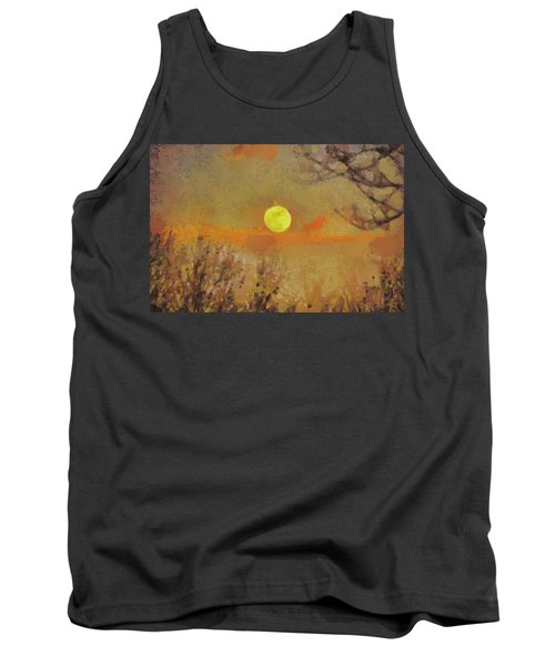 Tank Top featuring the mixed media Hollow's Eve by Trish Tritz