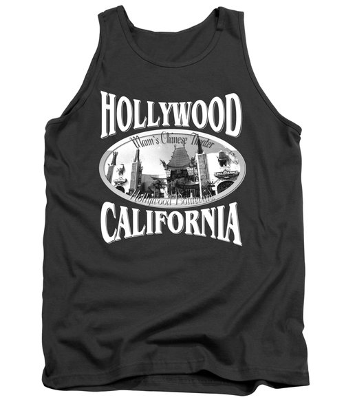 Hollywood California Tshirt Design Tank Top by Art America Gallery Peter Potter