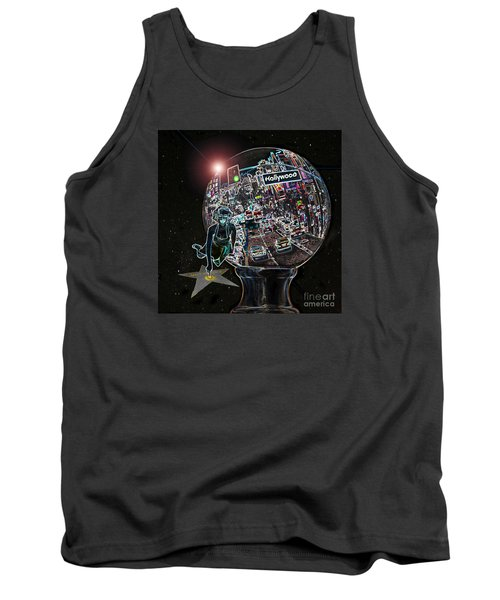 Tank Top featuring the photograph Hollywood Dreaming Marilyn's Star by Cheryl Del Toro