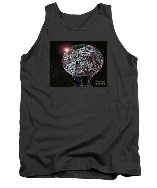 Tank Top featuring the photograph Hollywood Dreaming - Oblong Globe by Cheryl Del Toro