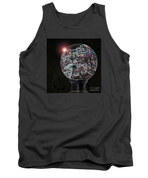 Tank Top featuring the photograph Hollywood Dreaming - Square Globe by Cheryl Del Toro