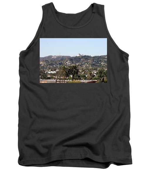 Hollywood Hills From Sunset Blvd Tank Top