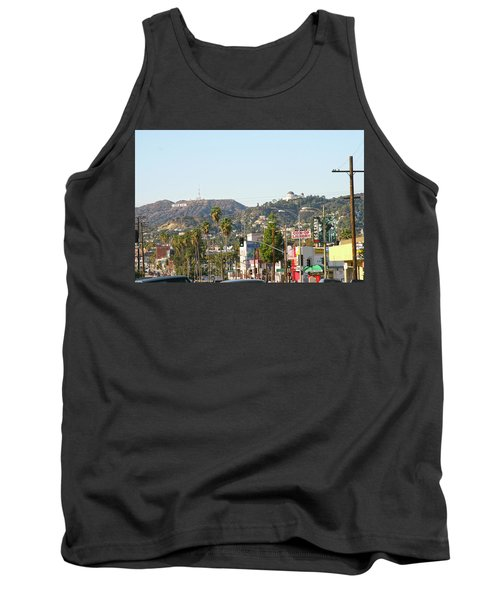 Hollywood Sign Above Sunset Blvd. Tank Top
