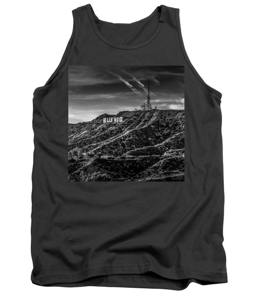 Hollywood Sign - Black And White Tank Top