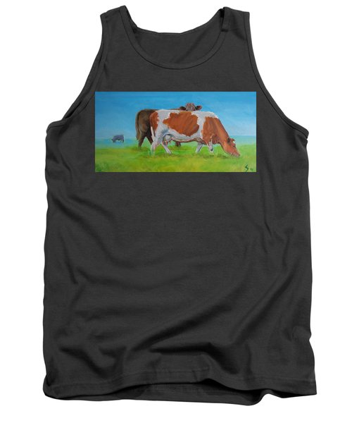 Holstein Friesian Cow And Brown Cow Tank Top