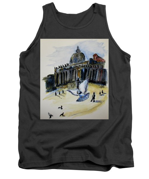 Holy Pigeons Tank Top by Clyde J Kell