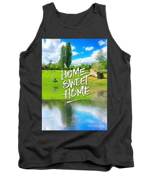 Home Sweet Home Pastoral Versailles Chateau Country Landscape Tank Top