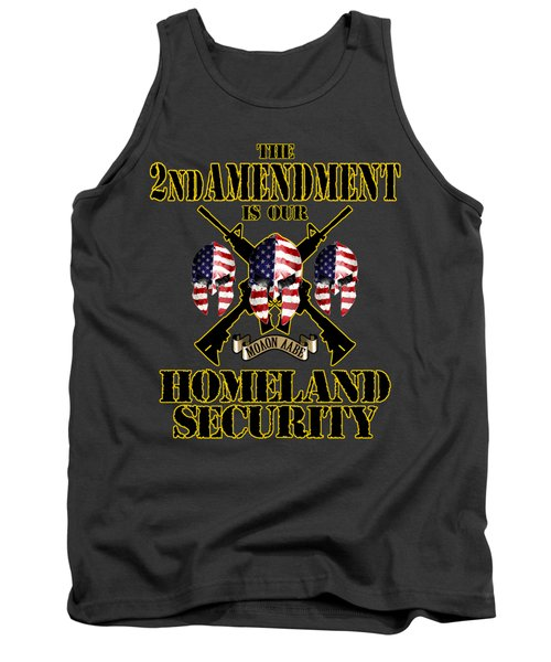 Tank Top featuring the tapestry - textile Homeland Security by Don Olea